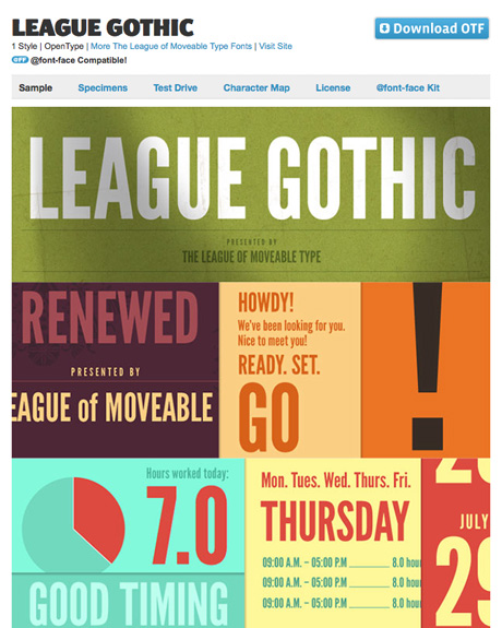 Font Squirrel | Free Font League Gothic by The League of Moveable Type