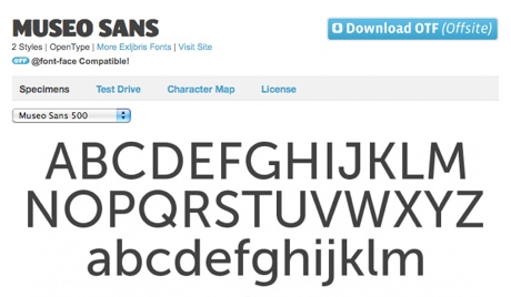 Font Squirrel | Free Font Museo Sans by Exljbris
