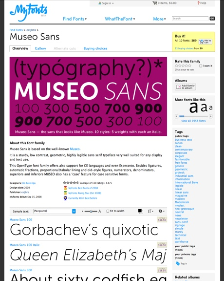 Museo Sans™ font family « MyFonts